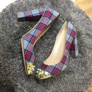 J.crew plaid heels